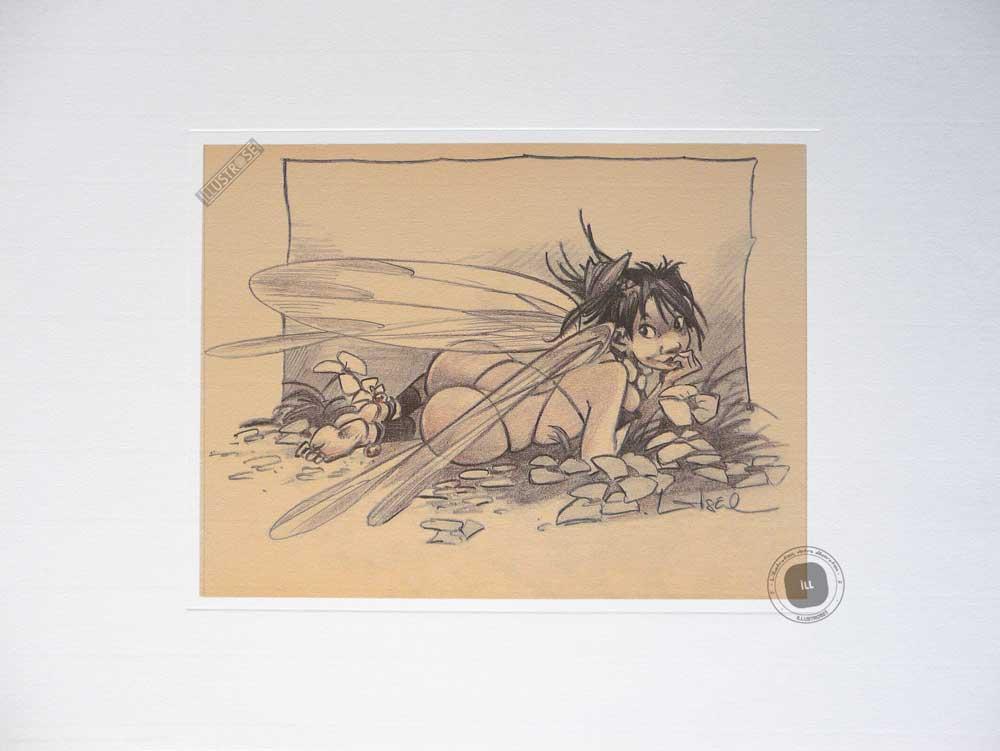 Affiche BD Peter Pan de R.Loisel 'Fée N°3' - Illustrose