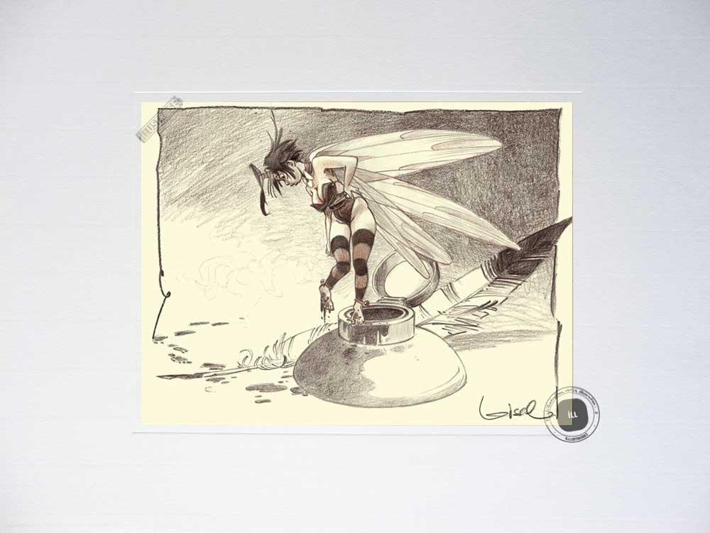 Affiche BD Peter Pan de R.Loisel 'Fée N°5' - Illustrose