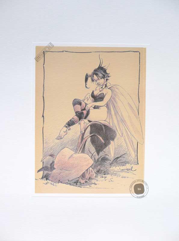 Affiche BD Peter Pan de R.Loisel 'Fée N°8' - Illustrose