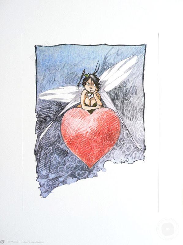 Affiche BD Peter Pan de R.Loisel 'Clochette mon coeur' - Illustrose
