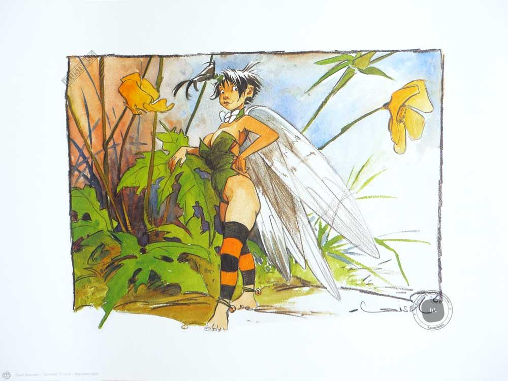 Affiche BD Peter Pan de R.Loisel 'Clochette' - Illustrose