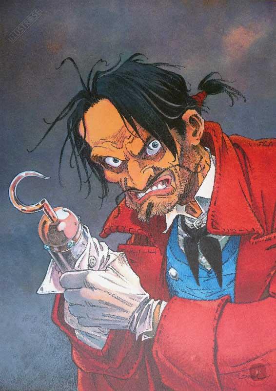 Affiche BD Peter Pan de R.Loisel 'Crochet' - Illustrose