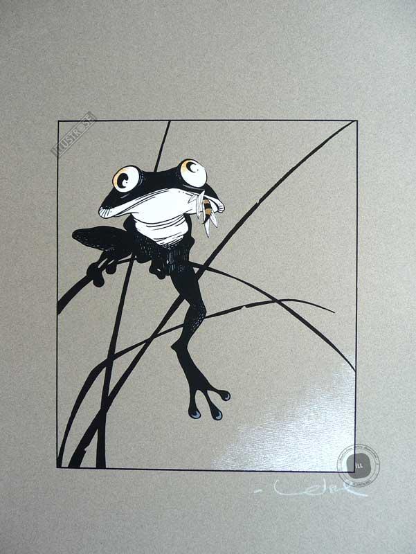 Sérigraphie illustration  Régis Loisel 'La grenouille' - Illustrose