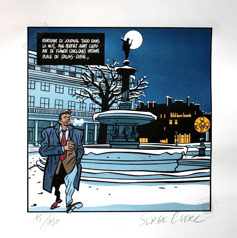 Sérigraphie bd Phil Perfect Serge Clerc 'Palais royal' - Illustrose