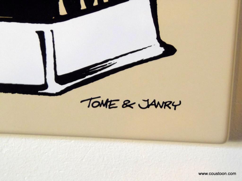 Plaque émaillée déco BD Le petit Spirou de Tome et Janry - Illustrose