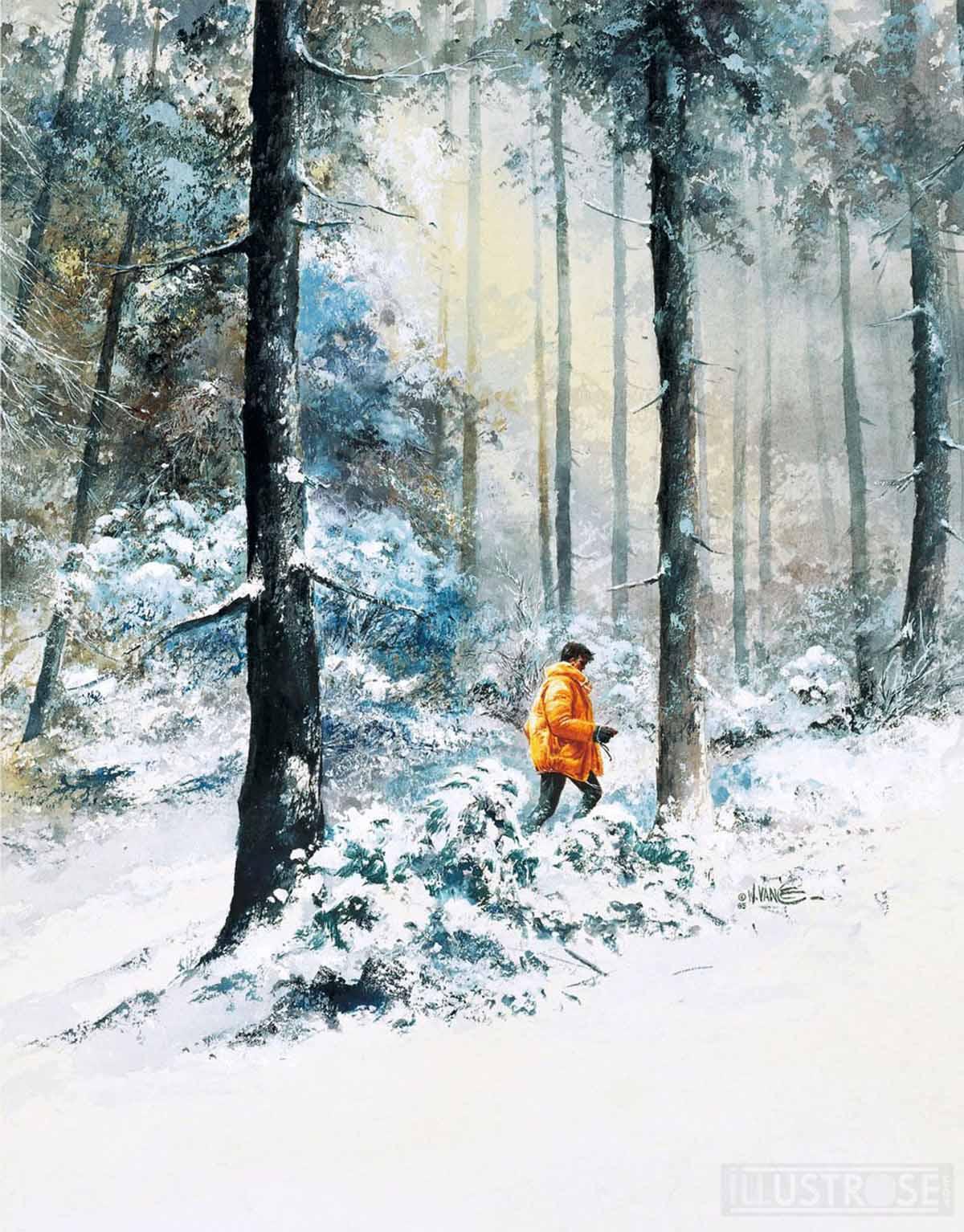 Toile BD décorative XIII de William Vance 'Là où va l'indien' - Illustrose