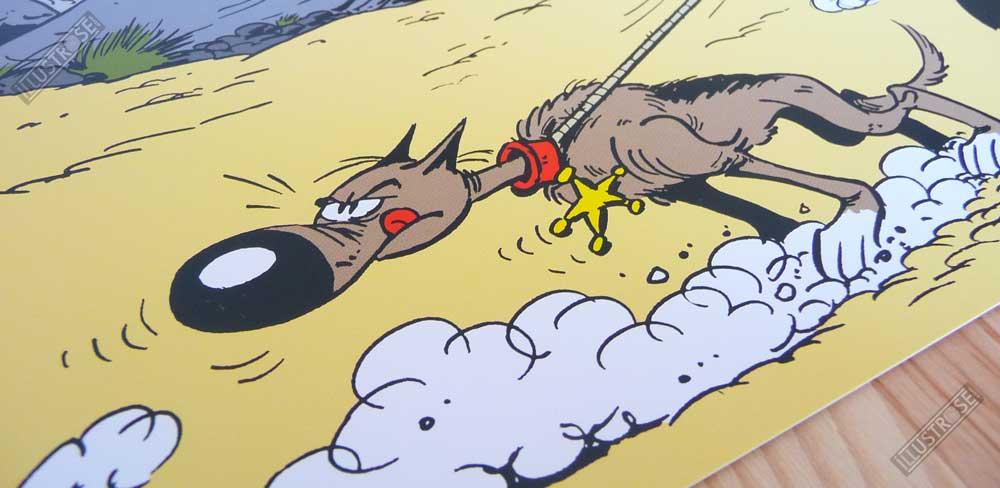 Affiche d'art poster BD Lucky Luke et rantanplan de Achdé - Illustrose