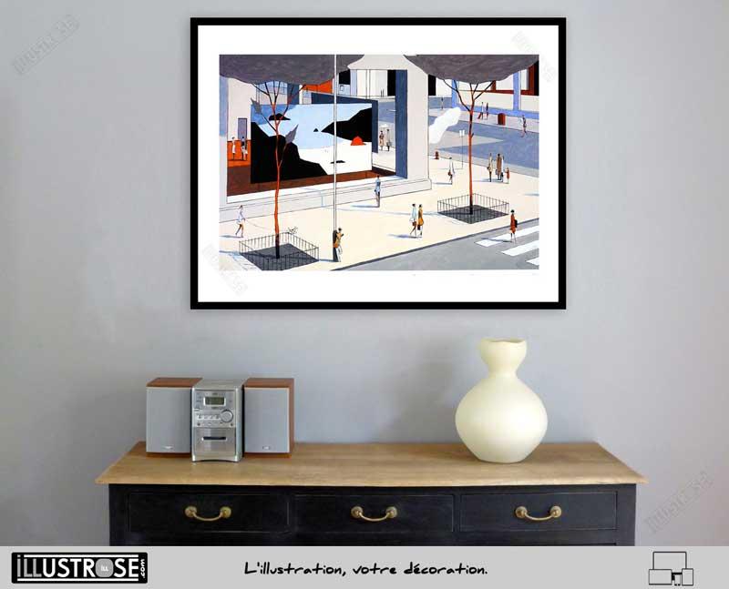 Estampe encadrée, signée et numérotée The gallery François Avril - Illustrose