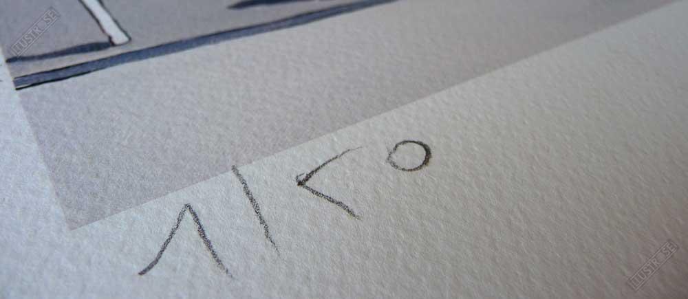 Estampe encadrée, signée et numérotée Les sablons François Avril - Illustrose
