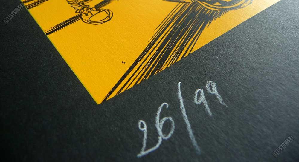 Sérigraphie signée et numérotée le courant d'art Frédéric Bézian - Illustrose