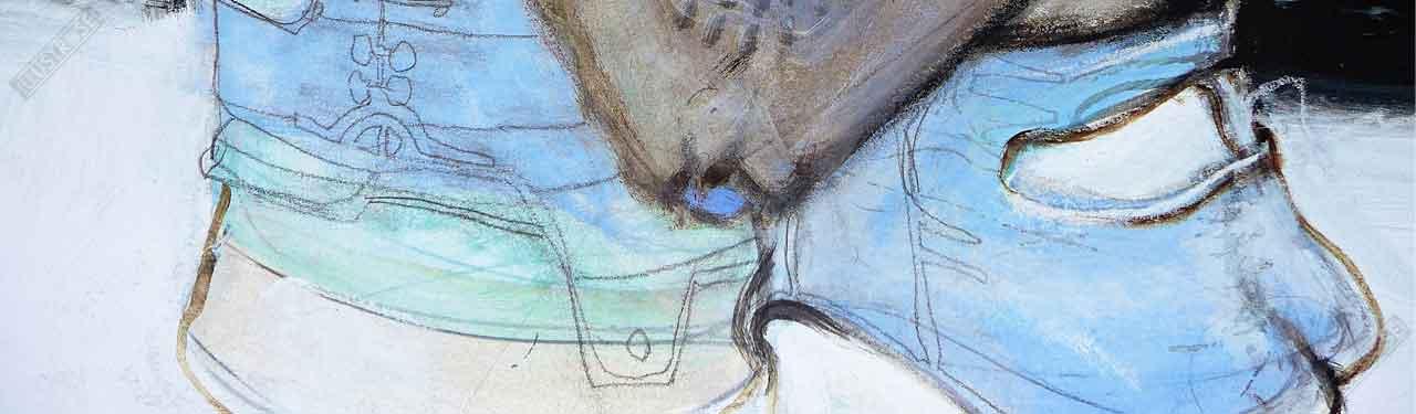 Affiche d'art Bleu sang à part de Enki Bilal - Illustrose