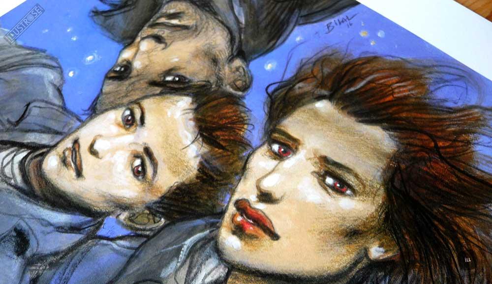 Affiche poster illustration BD signé et encadré Enki Bilal, 'Shoah et bande dessinée' sur papier d'art - Illustrose