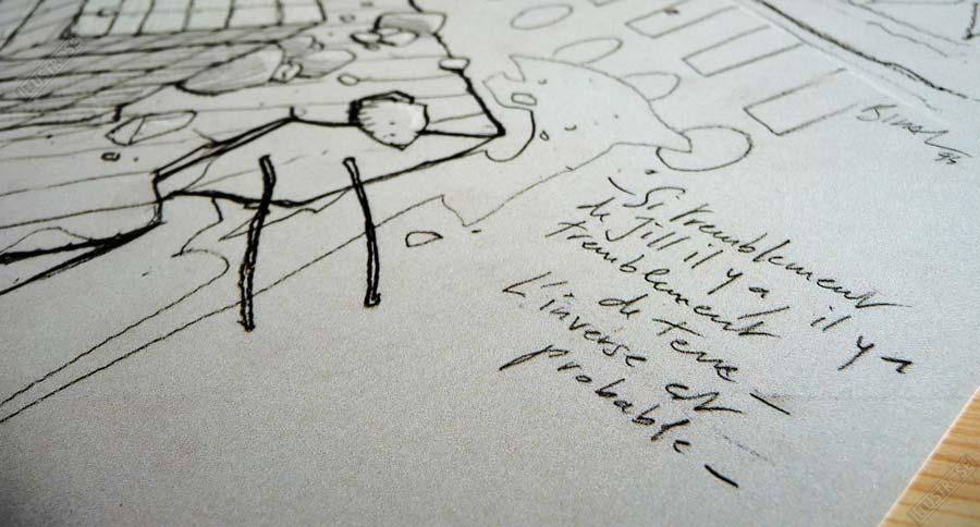 Affiche d'art Jill l'inverse est possible de Enki Bilal - Illustrose