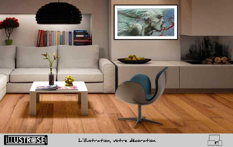 Affiche d'art Sacha le sommeil du Monstre de Enki Bilal - Illustrose