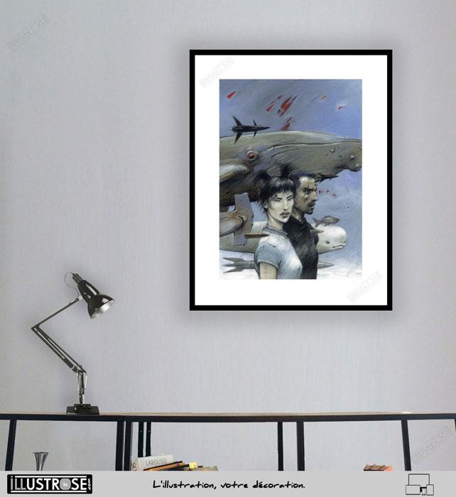 Enki Bilal poster pour décoration BD - Illustrose