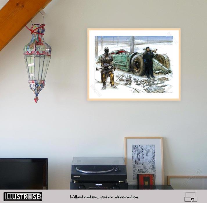 Affiche d'art Do not open le sommeil du Monstre de Enki Bilal - Illustrose
