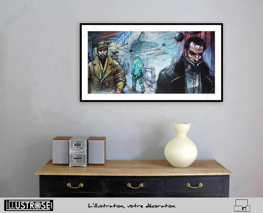 Affiche d'art poster BD Little bangkok le sommeil du Monstre de Enki Bilal - Illustrose