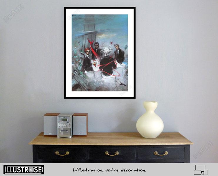 Affiche d'art poster BD quatre le sommeil du Monstre de Enki Bilal - Illustrose