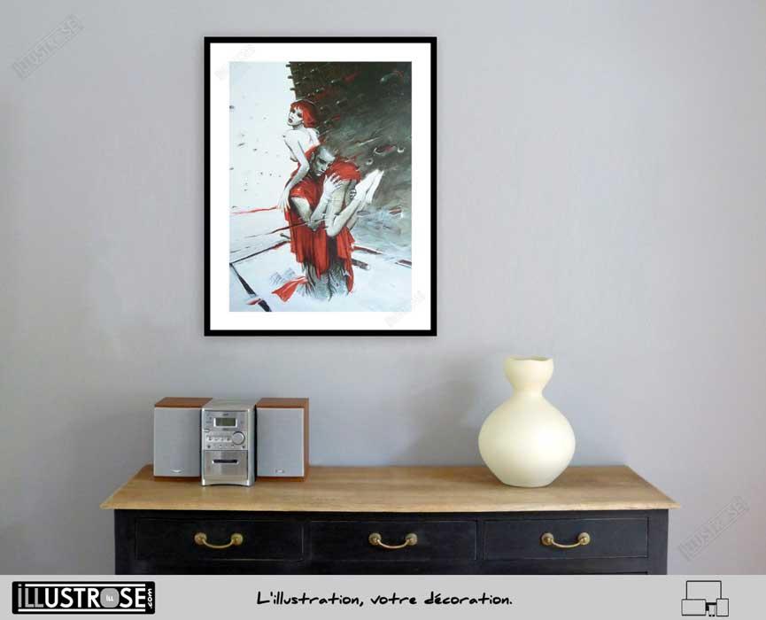 Affiche d'art Julia et Roem de Enki Bilal - Illustrose
