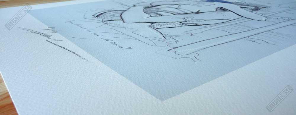 Estampe encadrée et numérotée L'étreinte Enki Bilal - Illustrose