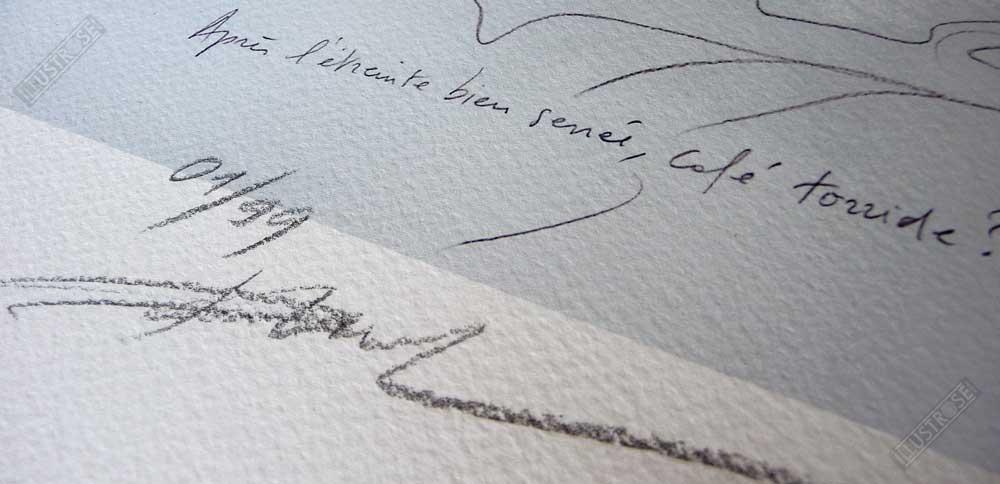 Estampe pigmentaire signée et numérotée L'étreinte Enki Bilal - Illustrose