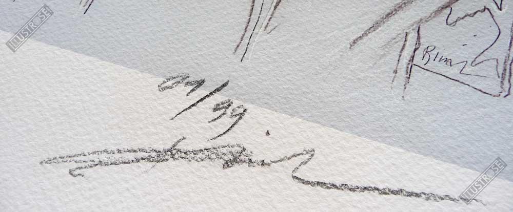 Estampe signée et numérotée L'inédit Enki Bilal - Illustrose