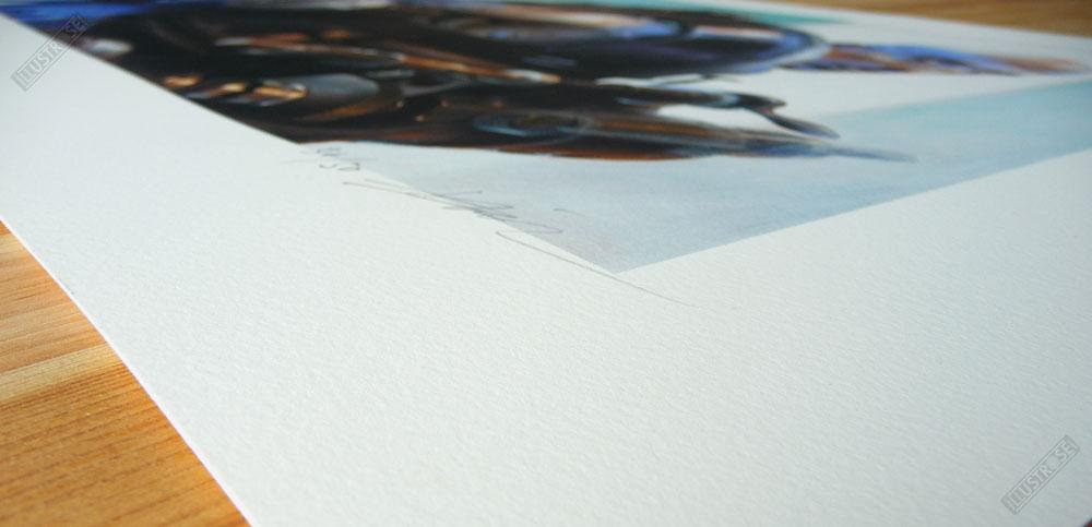 Estampe Mécanhumanimal Enki Bilal papier d'art - Illustrose