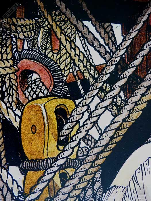 Affiche d'art encadrée BD Les passagers du vent Le bois d'ébène de François Bourgeon - Illustrose