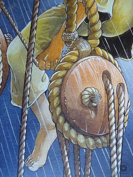 Affiche d'art encadrée BD Les passagers du vent La fille sous la dunette de François Bourgeon - Illustrose