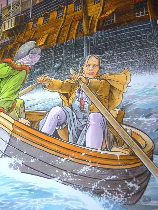 Affiche d'art encadrée BD Les passagers du vent Le ponton de François Bourgeon - Illustrose