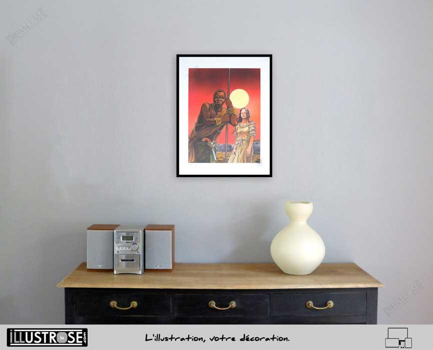 Affiche d'art encadrée BD Les passagers du vent Le comptoir de Juda de François Bourgeon - Illustrose