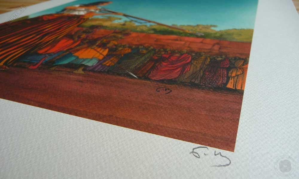Affiche d'art encadrée BD Les passagers du vent L'heure du serpent de François Bourgeon - Illustrose