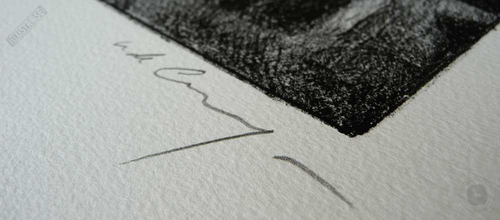 Estampe encadrée, signée et numérotée 'La rue - scooter' Nicolas de Crécy - Illustrose