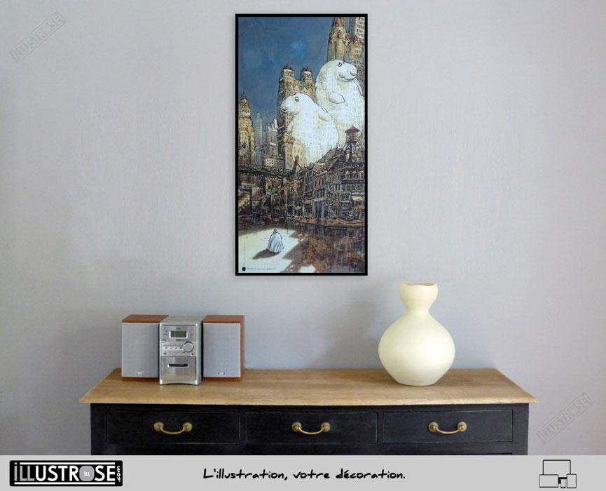 Affiche d'art poster BD Admirez le contre jour Satan de Nicolas de Crécy - Illustrose