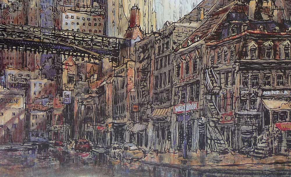 Affiche d'art poster BD New York sur Loire de Nicolas de Crécy - Illustrose
