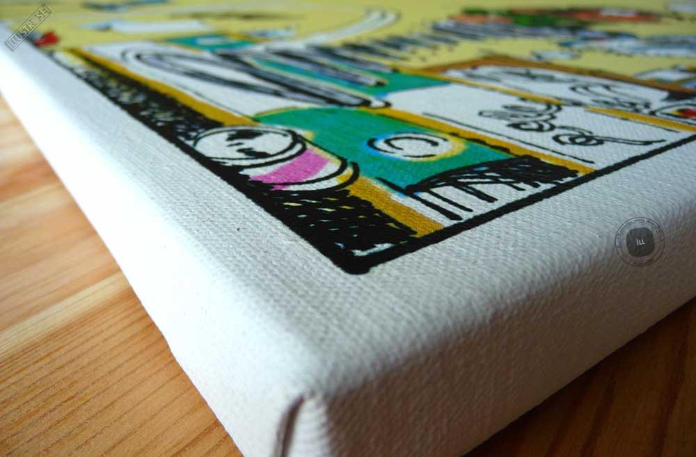 Toile de collection para BD éditions du grand vingitième déco 'Gaston Lagaffe - Ressort' de Franquin - Illustrose