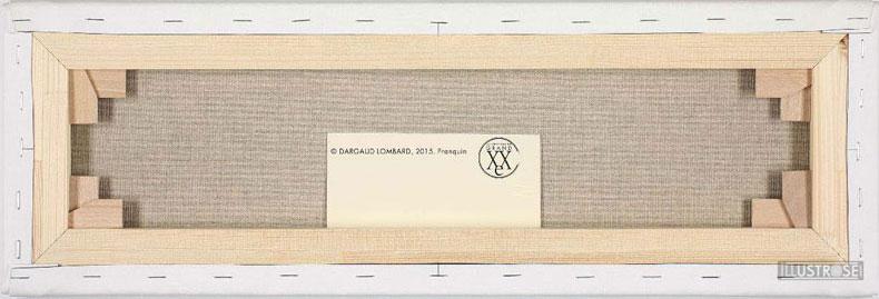 Toile de collection para BD éditions du grand vingitième déco 'Gaston Lagaffe - Verglas' de Franquin - Illustrose