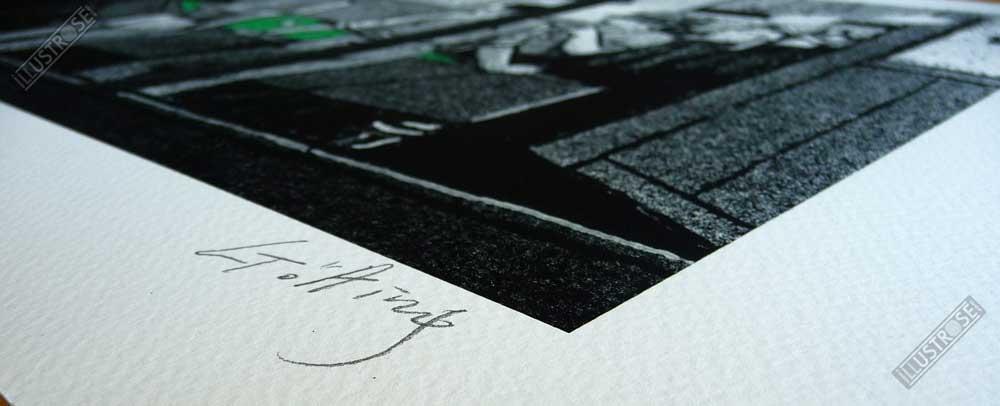 Estampe encadrée, signée et numérotée Billard Jean-Claude Götting - Illustrose