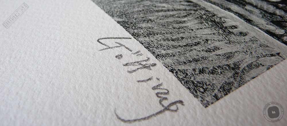 Estampe encadrée, signée et numérotée 'Route 66, East Texas' de Jean-Claude Götting - Illustrose