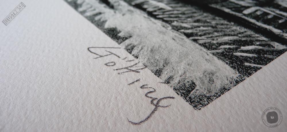 Estampe encadrée, signée et numérotée 'Route 66, Texas' de Jean-Claude Götting - Illustrose