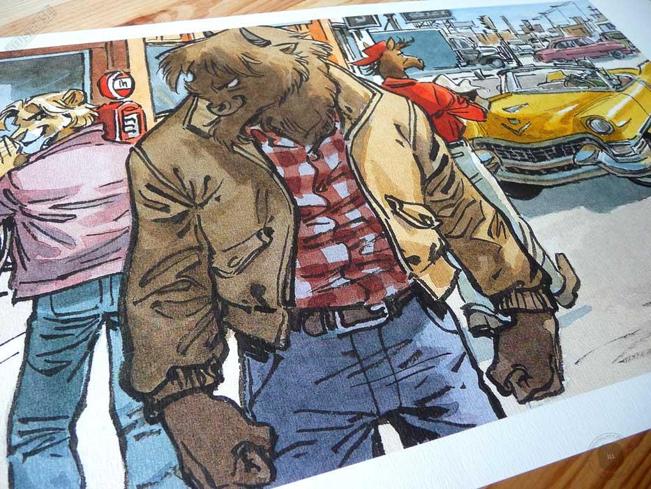 Affiche BD encadrée Blacksad 'Abe et Chad' Juanjo Guarnido - Illustrose