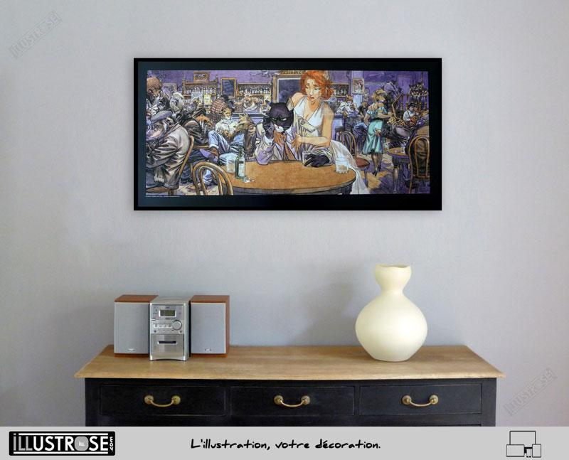 Affiche BD encadrée Blacksad 'John's blues' Juanjo Guarnido - Illustrose