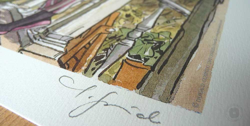 Affiche BD signée encadrée Blacksad 'John's family' Juanjo Guarnido - Illustrose