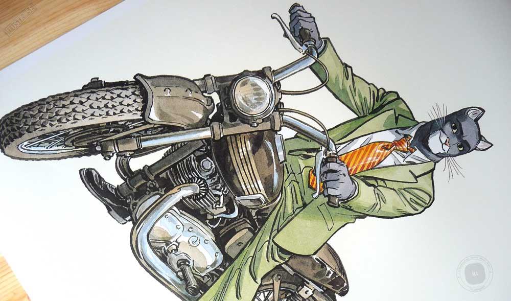 Affiche BD encadrée Blacksad 'John's Triumph' Juanjo Guarnido - Illustrose