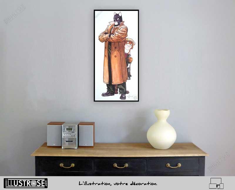 Affiche BD encadrée Blacksad 'John et Weekly' Juanjo Guarnido - Illustrose
