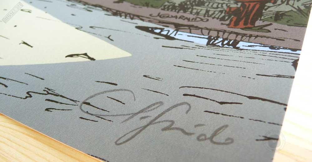 Affiche BD signée numérotée Blacksad 'New York' Juanjo Guarnido - Illustrose