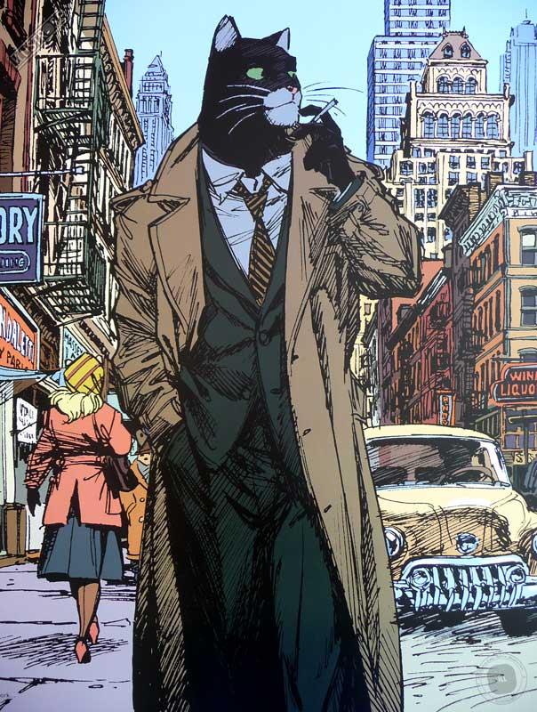Affiche BD encadrée Blacksad 'New York' Juanjo Guarnido - Illustrose
