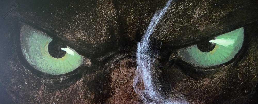 Affiche BD encadrée Blacksad 'Portrait à la cigarette' Juanjo Guarnido - Illustrose