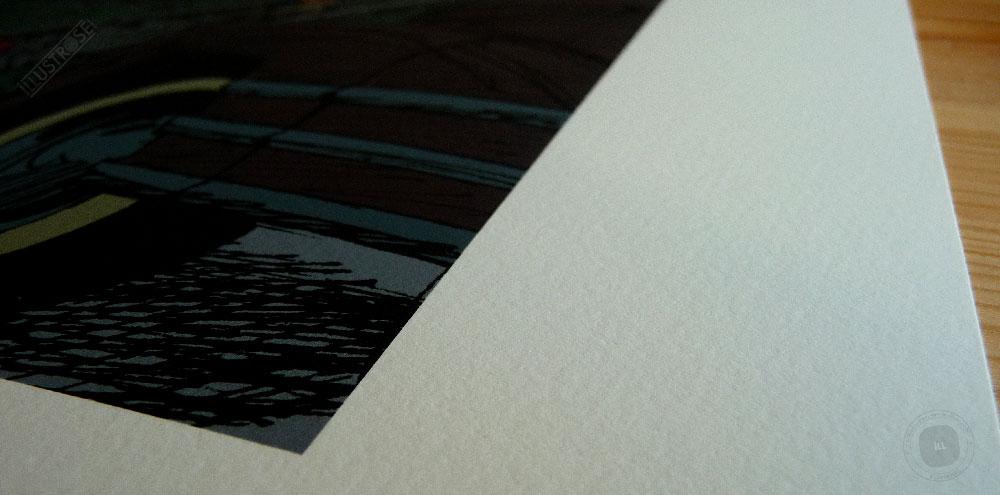 Estampe encadrée, signée et numérotée Blacksad 'New York' Juanjo Guarnido - Illustrose