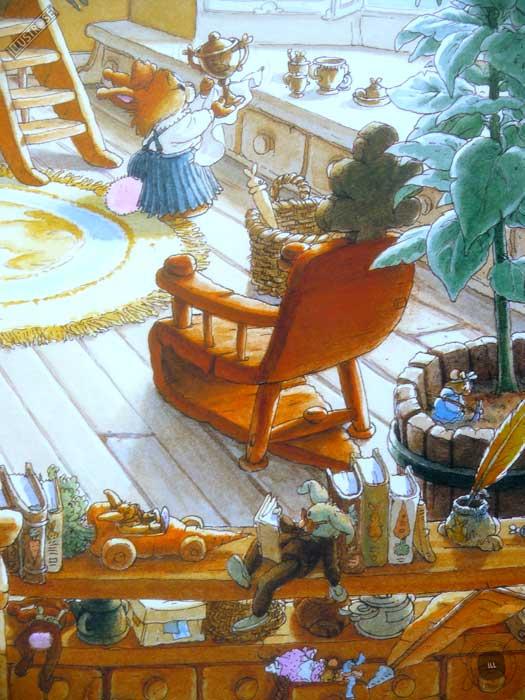 Affiche deco illustration jeunesse La famille Passiflore 7 de Loïc Jouannigot - Illustrose